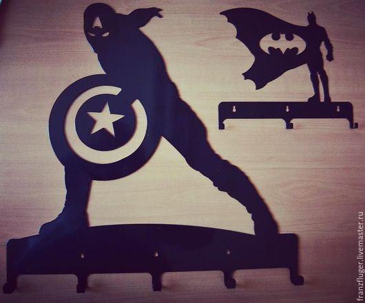 """Прихожая ручной работы. Ярмарка Мастеров - ручная работа. Купить Вешалка """"Капитан Америка"""". Handmade. Америка, вешалка, супергерой, капитан"""