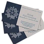 Дизайн и реклама ручной работы. Ярмарка Мастеров - ручная работа Визитка для мастера вышивки сашико. Handmade.