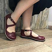 Обувь ручной работы. Ярмарка Мастеров - ручная работа Туфли ,,мери джейн,, крестиком. Handmade.