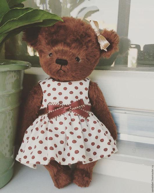 """Мишки Тедди ручной работы. Ярмарка Мастеров - ручная работа. Купить Мишка-девочка """"Шоколадка"""". Handmade. Коричневый, teddy bear"""