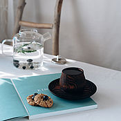 Посуда handmade. Livemaster - original item Textured tea pair of pine meringue series NC28. Handmade.