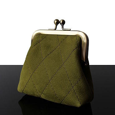 Bags and accessories handmade. Livemaster - original item Women`s wallet made of genuine leather in vintage style. Handmade.