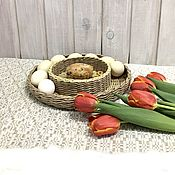 Сувениры и подарки handmade. Livemaster - original item Easter Souvenirs: Dish: Wicker dish for a Bright holiday.. Handmade.