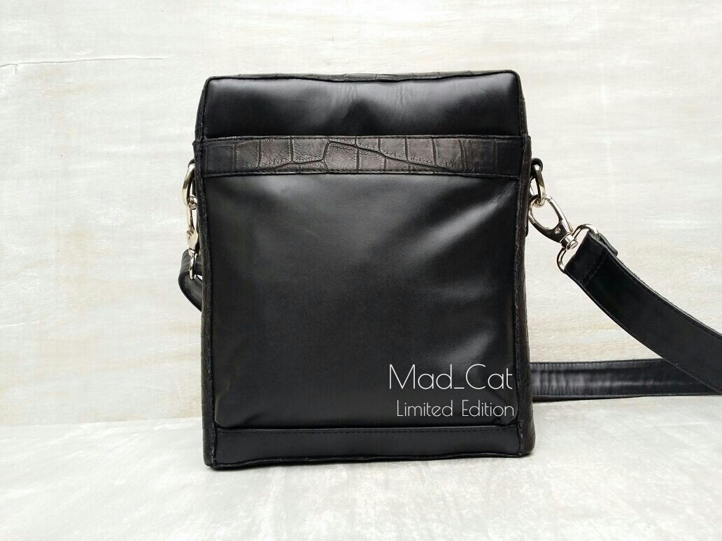 Bag laptop genuine leather and alligator skin, Messenger Bag, Moscow,  Фото №1
