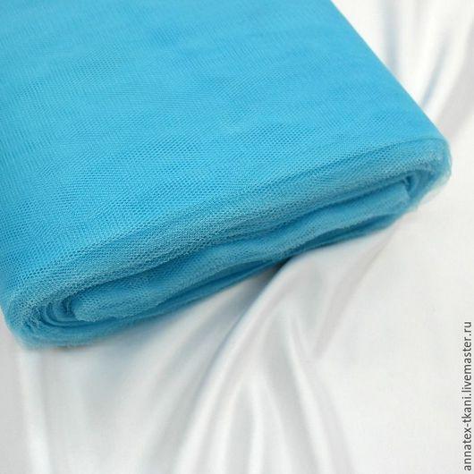 Сетка полужесткая - Грек Тюль - цвет бирюзовый