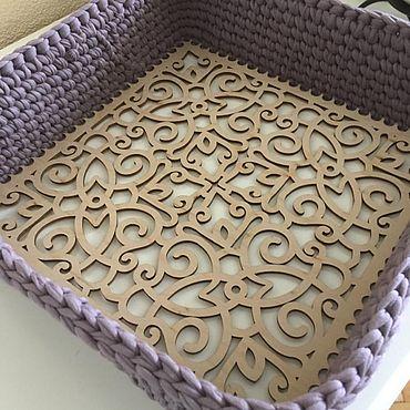 Для дома и интерьера ручной работы. Ярмарка Мастеров - ручная работа Ящик для хранения вязаный «Сиреневая дымка». Handmade.