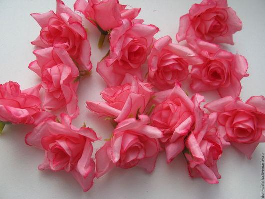 Материалы для флористики ручной работы. Ярмарка Мастеров - ручная работа. Купить головки розовых роз (яркие). Handmade. Розовый