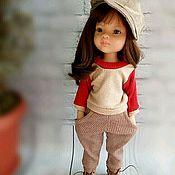Одежда для кукол ручной работы. Ярмарка Мастеров - ручная работа Свитшот+брючки+кепка для Паола Рейна. Handmade.