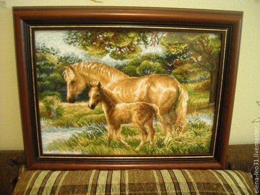 Животные ручной работы. Ярмарка Мастеров - ручная работа. Купить Лошадь с жеребенком. Handmade. Оранжевый, коричневый цвет, лошадь, лошади