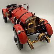 Скульптуры ручной работы. Ярмарка Мастеров - ручная работа Ретро-модель автомобиля родстер для декора (№7233). Handmade.