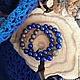 """Браслеты ручной работы. Ярмарка Мастеров - ручная работа. Купить Комплект браслетов """"Южная ночь"""". Handmade. Тёмно-синий"""
