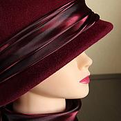 Шляпы ручной работы. Ярмарка Мастеров - ручная работа Леди Бордо . Шляпка.. Handmade.
