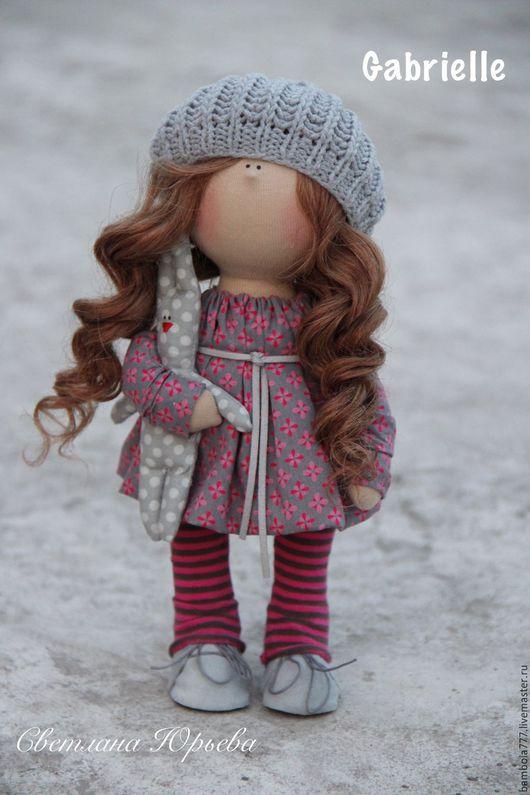 Коллекционные куклы ручной работы. Ярмарка Мастеров - ручная работа. Купить Кукла интерьерная текстильная 26 см. Handmade. Фуксия