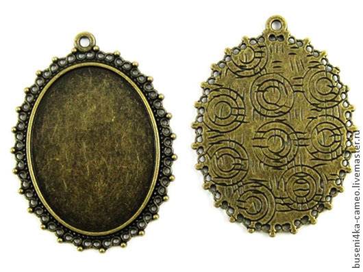 Для украшений ручной работы. Ярмарка Мастеров - ручная работа. Купить Оправа Кружевная 30х40мм, античная бронза (1шт). Handmade.