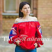 Одежда ручной работы. Ярмарка Мастеров - ручная работа Блузка яркая вышитая  бохо, этно стиль  Vita Kin,Bohemia. Handmade.