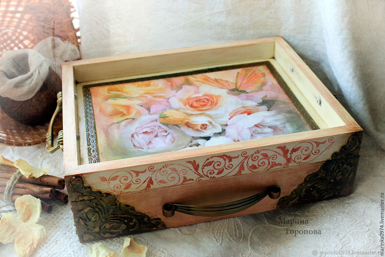Serving table tray 'Dreams' Vintage, Trays, Krasnoyarsk,  Фото №1