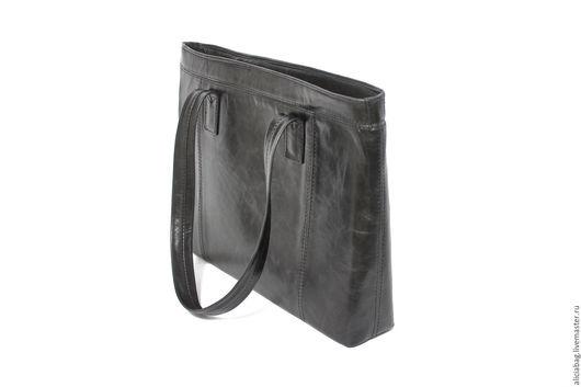 Женские сумки ручной работы. Ярмарка Мастеров - ручная работа. Купить Натуральная кожа сумочка 96_1. Handmade. Черный
