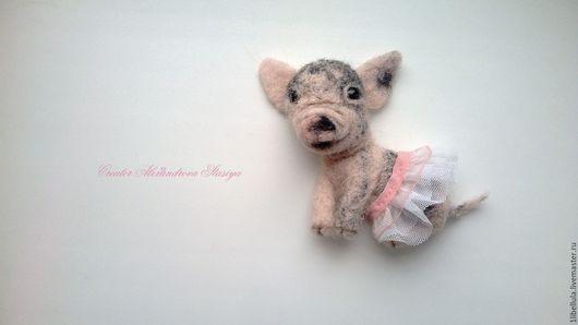 """Броши ручной работы. Ярмарка Мастеров - ручная работа. Купить Брошь """"Мини-пигги"""". Handmade. Розовый, уникальный подарок"""