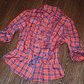 """Одежда ручной работы. Ярмарка Мастеров - ручная работа Льняная рубашка """"Пластрон"""". Handmade."""