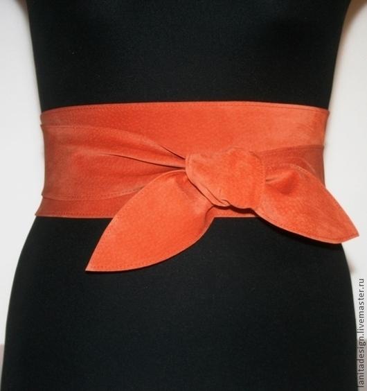 """Пояса, ремни ручной работы. Пояс-кушак """"Orange"""". Lanita Design. Ярмарка Мастеров."""