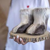 handmade. Livemaster - original item Baby felt boots made of natural reindeer skin. Handmade.