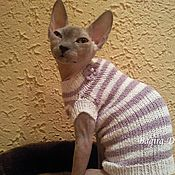 Для домашних животных, handmade. Livemaster - original item Sweaters for cats is made of cotton. Handmade.