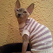 Для домашних животных, ручной работы. Ярмарка Мастеров - ручная работа Свитера для кошек из хлопка. Handmade.