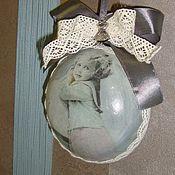 """Для дома и интерьера ручной работы. Ярмарка Мастеров - ручная работа интерьерная керамическая подвеска"""" Ретро"""". Handmade."""