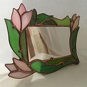 """Подарки к праздникам ручной работы. Ярмарка Мастеров - ручная работа зеркало """"Крокусы"""". Handmade."""