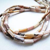 Материалы для творчества handmade. Livemaster - original item Pink opal tube beads 2. Handmade.