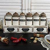 """Для дома и интерьера ручной работы. Ярмарка Мастеров - ручная работа """"Provence""""набор для специй. Handmade."""