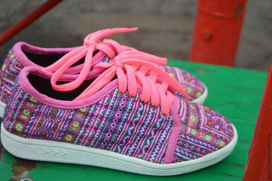 Обувь ручной работы. Ярмарка Мастеров - ручная работа. Купить этно кеды. Handmade. Разноцветный, весна 2015, транс, бохо