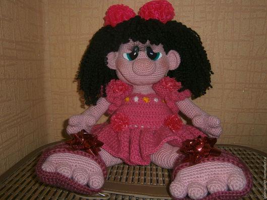 Человечки ручной работы. Ярмарка Мастеров - ручная работа. Купить Кукла Прынцесска. Handmade. Розовый, Платье нарядное, цветочки