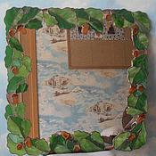 """Для дома и интерьера ручной работы. Ярмарка Мастеров - ручная работа Зеркало """"дубовая ветвь"""". Handmade."""