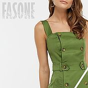 Одежда handmade. Livemaster - original item Green dress-sundress