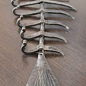 """Подарки ручной работы. Ярмарка Мастеров - ручная работа """"Рыбий скелет"""" вешалка кованая. Handmade."""