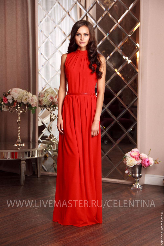 Вечернее платье из креп шифона