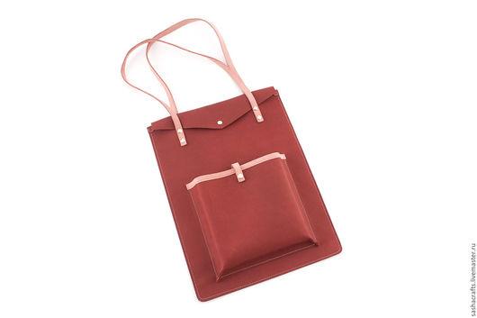 """Сумки для ноутбуков ручной работы. Ярмарка Мастеров - ручная работа. Купить Кожаная сумка винного цвета """"NoteBag"""". Авторская модель.. Handmade."""