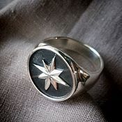 """Фаланговое кольцо ручной работы. Ярмарка Мастеров - ручная работа Кольцо """"Роза ветров"""". Handmade."""