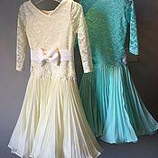 Работы для детей, handmade. Livemaster - original item Juvenal (basic) dress for ballroom dancing PLISSET&LACE. Handmade.