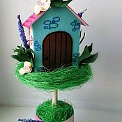 Топиарии ручной работы. Ярмарка Мастеров - ручная работа Топиарий Счастье в дом. Handmade.