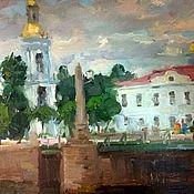 Картины и панно handmade. Livemaster - original item St. Nicholas Cathedral oil painting view Peter SPb Saint Petersburg. Handmade.