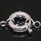 Материалы для творчества handmade. Livemaster - original item Lock round 19 mm rhodium plated. Yu. Korea (4305). Handmade.
