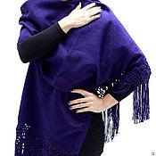 Аксессуары ручной работы. Ярмарка Мастеров - ручная работа Альпака чистая шерсть - палантин шарф накидка. Handmade.