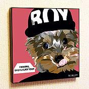 Подарки к праздникам handmade. Livemaster - original item Painting Pop Art Yorkshire Terrier. Handmade.