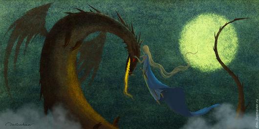 """Фантазийные сюжеты ручной работы. Ярмарка Мастеров - ручная работа. Купить """"Питомец"""". Handmade. Дракон, волшебство, сказка, магия, любовь"""
