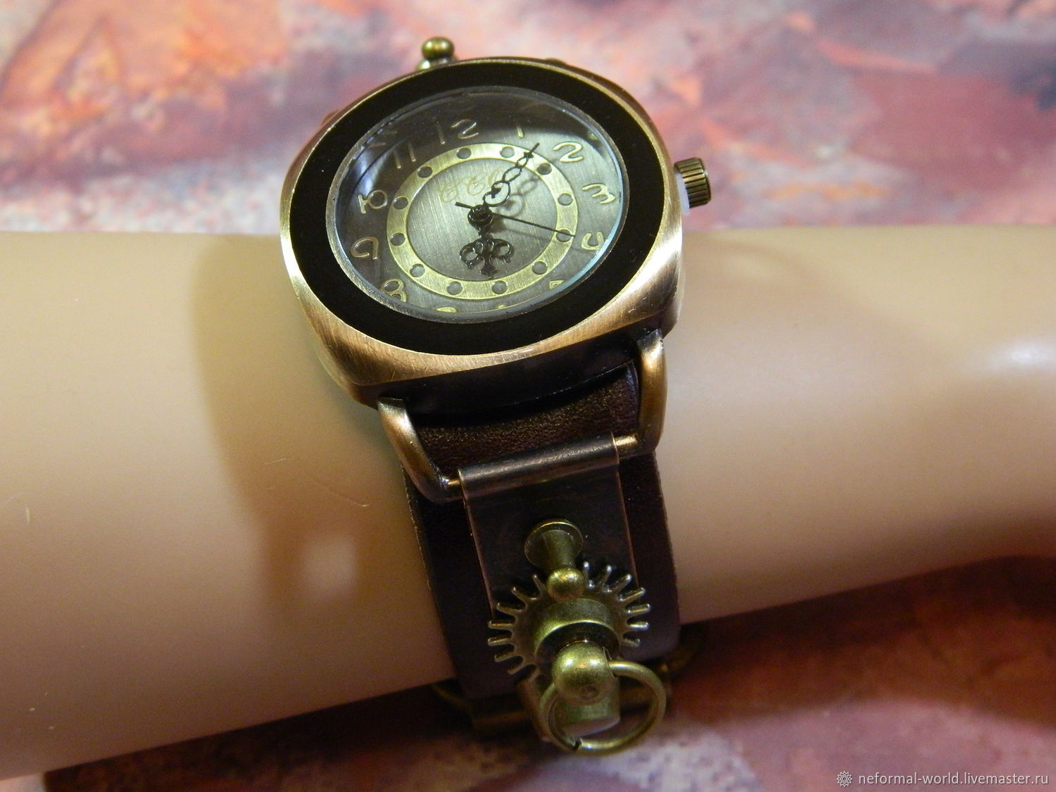 WATCH WRIST STEAMPUNK 'FUTURISM', Watches, Saratov,  Фото №1