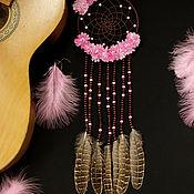 """Фен-шуй и эзотерика ручной работы. Ярмарка Мастеров - ручная работа Ловец снов """"Розовый фламинго"""". Handmade."""
