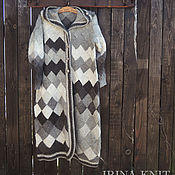 Одежда handmade. Livemaster - original item Coat knitted from lamb County, interlock, wool. Handmade.