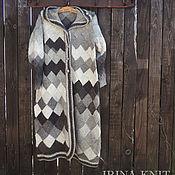 Одежда ручной работы. Ярмарка Мастеров - ручная работа Пальто вязаное из Кауни Ламб, энтерлак, шерсть. Handmade.